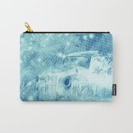 Ghost driver in the moonlight with fireflies and leaves Carry-All Pouch