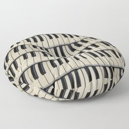 Rock And Roll Piano Keys Floor Pillow