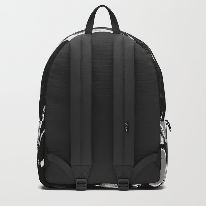 Silver Sugarcane Black and White Backpack