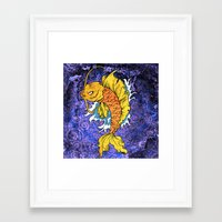 koi fish Framed Art Prints featuring Koi Fish by Spooky Dooky