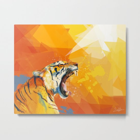 Tiger in the morning Metal Print