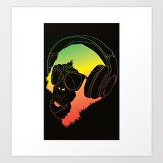 Jamin' Chimpanzie  Art Print
