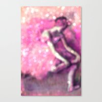 ballerina Canvas Prints featuring Ballerina by PureVintageLove