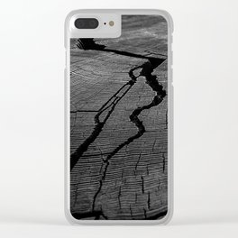 Ancient Tree Rings Clear iPhone Case