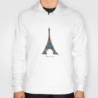 eiffel tower Hoodies featuring eiffel tower by PINT GRAPHICS