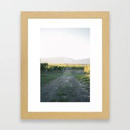 Sunset at Tantalus Framed Art Print