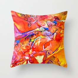 Fire Opal Impressions Throw Pillow