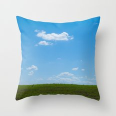 Country fields - country sky 5290 Throw Pillow