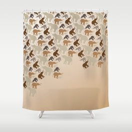ELLE-PHANTS Shower Curtain