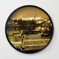 prague Wall Clocks featuring Prague 5 by Veronika
