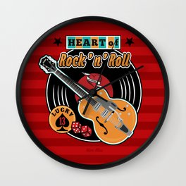 Heart of Rock 'n Roll Wall Clock