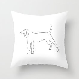 Beagle (Black) Throw Pillow