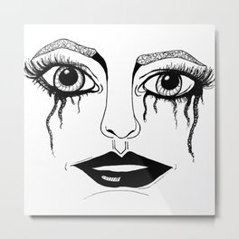 Crying Eyes Metal Print
