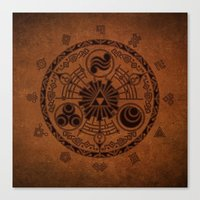 legend of zelda Canvas Prints featuring The Legend Of Zelda by Electra