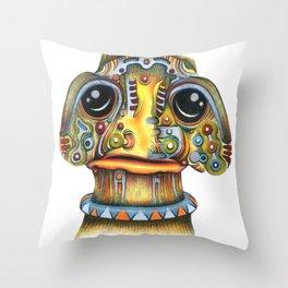 The Forlorn Alien Throw Pillow