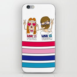 LOVEISPEACE&FREEDOM iPhone Skin