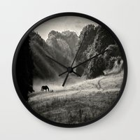 serenity Wall Clocks featuring Serenity by Mark Bagshaw Photography