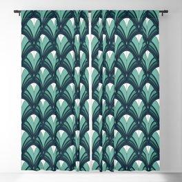 Vintage Art Deco Floral Blackout Curtain