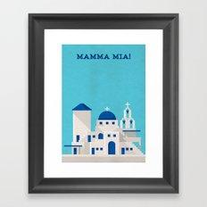 Mamma Mia Minimalist Poster Framed Art Print