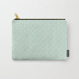 Mint Mermaid Scales Carry-All Pouch