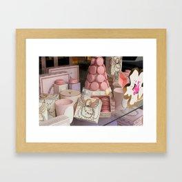 Pink macarons at Laduree Paris Framed Art Print