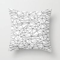 the wire Throw Pillows featuring Geometric Wire by Maiko Nagao
