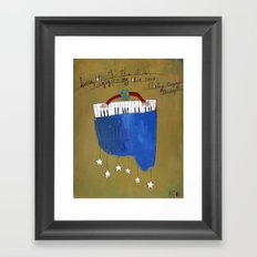 My Blue Piano Framed Art Print