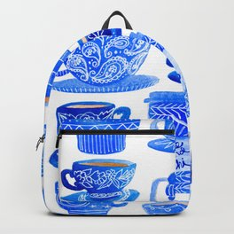 Coffee Mugs and Tea Cups - A study in blues Backpack