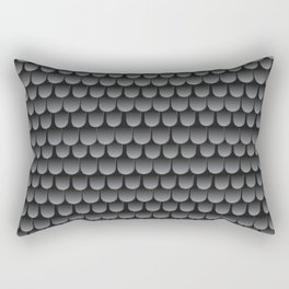 Armor Pattern Grey Rectangular Pillow