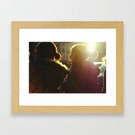 Two Girls in Paris Framed Art Print
