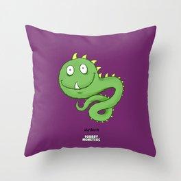Whipilworm Throw Pillow