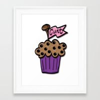 cunt Framed Art Prints featuring Cunt Muffin by The Weirdoll Effect