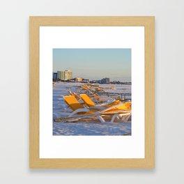 Calm Chaos at the Beach Framed Art Print