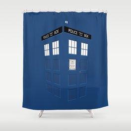 Tardis Blue Shower Curtain