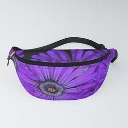 Purple succulent flowers watercolor effect Fanny Pack