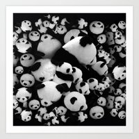 pandas Art Prints featuring Pandas by suvawear