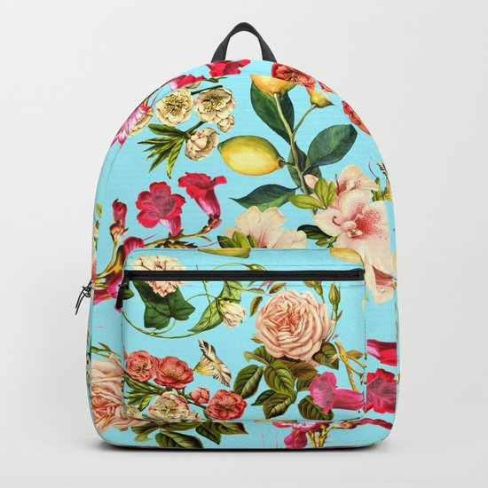 Lemon and Leaf Pattern IV Backpack