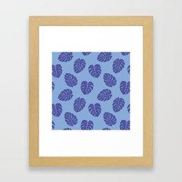 Monstera trendy - purple Framed Art Print
