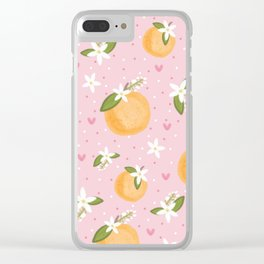 Orange Blossom Special Clear iPhone Case