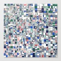Geometric Grid of Colors Canvas Print