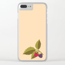 sprig with raspberry Clear iPhone Case