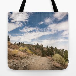 Hiking trail along Pacific Crest Trail in Southern California Tote Bag