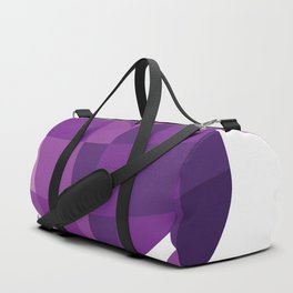 purple heart with crown Duffle Bag