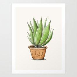 Cactus pattern1 Art Print
