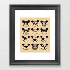 Pop Panda Tee Framed Art Print