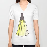 hufflepuff V-neck T-shirts featuring Hufflepuff Dress by AlwaysRiverose