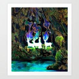 Etheral Gust Art Print