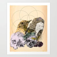 sacred geometry Art Prints featuring Sacred by Ashley Payne
