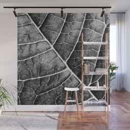 LEAF STRUCTURE no2b BLACK AND WHITE Wall Mural