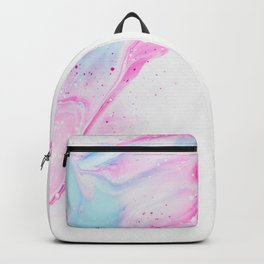 Pink Abstract Backpack